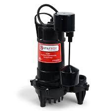 Pedestal Or Submersible Sump Pump Shop Utilitech 0 5 Hp Cast Iron Submersible Sump Pump At Lowes Com