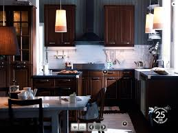 Kitchens With Dark Wood Cabinets Hardwood With Dark Cupboards Top Preferred Home Design