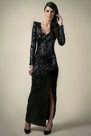 boohoo boutique nancy sequin maxi dress in black sequin maxi