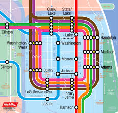 Chicago Public Transit Map by Transportation U0026 Lodging