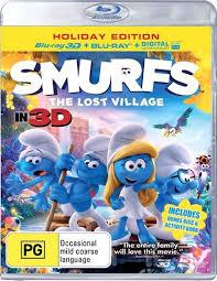 smurfs lost village 3d 2d blu ray uv bonus disc