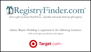 registry finder wedding finding the gift is a of cake plus a 50 target