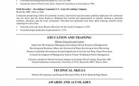 Army Resume Builder Website Army Recruiter Resume Resume For Your Job Application