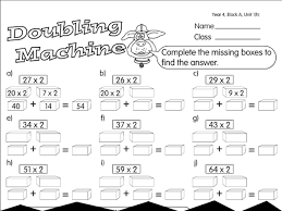 split and double machine a year 4 doubling u0026 halving worksheet