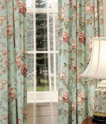 Vintage Floral Curtains Inspired By The Summer Time Charm Of A Cottage Garden This Print