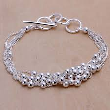 jewelry silver handmade bracelet images Silver color beaded handmade jewelry collection adworks pk jpg