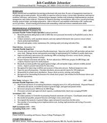 accounts payable sample resume eliolera com