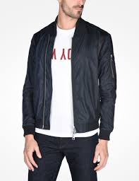 mens leather riding jacket armani exchange lightweight nylon bomber jacket jacket for men