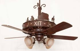 western ceiling fans with lights spacious copper canyon western trails ceiling fan rustic lighting
