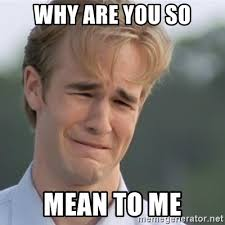 Why You So Mean Meme - why are you so mean to me dawson s creek meme generator