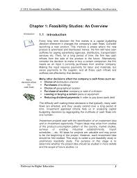c15 1 feasibility studies