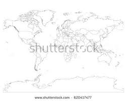 free world map 45 lines vector