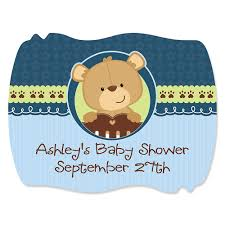 teddy baby shower baby boy teddy personalized baby shower squiggle stickers