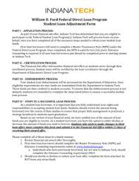 william d ford federal direct loan program fillable finaid indianatech loan adjustment form