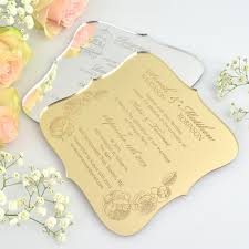 engraved wedding invitations engraved royal style acrylic wedding invitation personalized favors