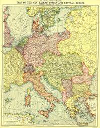 Map Of Oz Balkan States And Central Europe Map