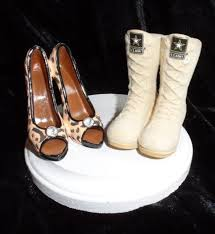 army wedding cake toppers army navy air marines boot and high heel wedding