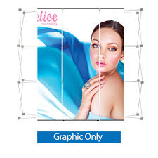 Graphic Panels Pop Up 9 Ft Straight Display Center 3 Graphic Laminate Panels