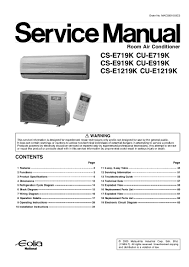 panasonic air conditioner service manual air conditioner databases