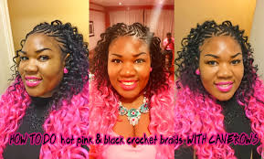 Curly Hair Extensions For Braiding by Pink U0026 Black Curly Crochet Braids Ombre Hair Extensions