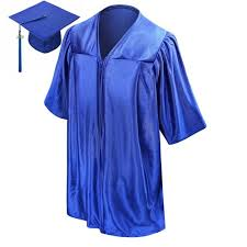 kindergarten cap and gown shiny royal blue kindergarten graduation cap gown suppliers