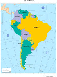 Map Of Caribbean Islands And South America by Maps Of The Americas