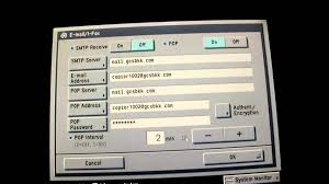 setup canon copier for send email and ifax youtube