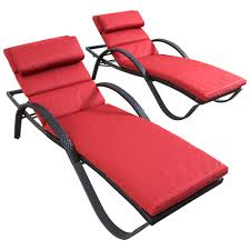 Home Depot Chaise Lounge Chairs Rst Brands Deco Patio Chaise Lounge With Cantina Red Cushion 2