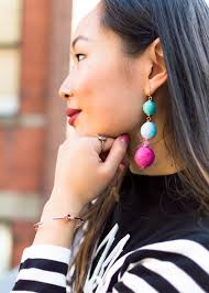 black girl earrings black and white carrie bradshaw style layers of chic