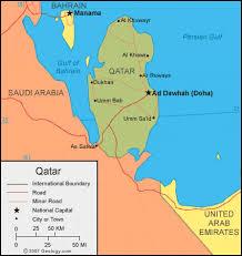 doha qatar map qatar map and satellite image