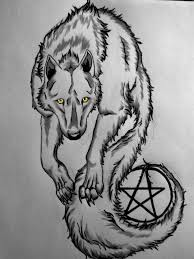 wolf with pentagram tattoo by silencer171 on deviantart