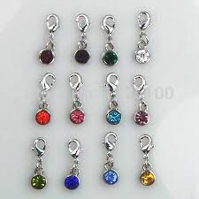 birthstone pendants for 12 birthstone colors floating birthstone charm for locket diy