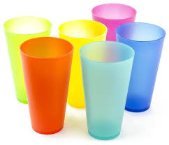 6 pack reusable colorful plastic cups picnic cups