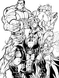xmen coloring page free download