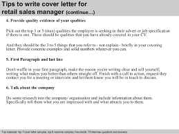 sample retail sales manager cover letter retail management cover