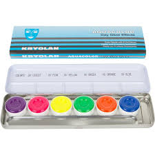 kryolan aquacolor palette day glow frends beauty supply