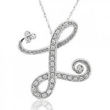 pendant l with chain buy 14k white gold initial l pendant necklace online