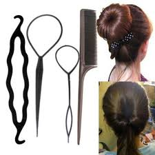hair bun maker aliexpress buy 4pcs set black plastic diy styling tools pull