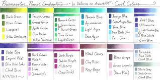 prismacolor pencils 150 prismacolor pencil combinations iii cool colors by valkeus on