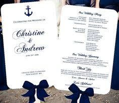 nautical wedding programs navy wedding programs wedding program fans nautical wedding