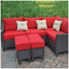 Red Patio Set by Atlantis 3 Piece Patio Sectional Conversation Furniture Set
