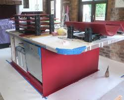 hand painted kitchen island with paint effect calderdale