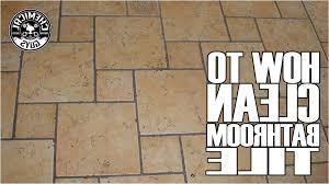 How To Clean Bathroom Floor by Best Clean Bathroom Tile Ideas Home Decorating Ideas