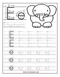 printable letter e tracing worksheets for preschool printable