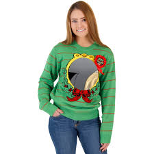 ugliest sweater s ugliest sweater award humorous sweater with mirror