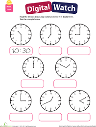 telling time practice reading clocks worksheet education com