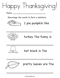 collection of solutions thanksgiving worksheets pdf in summary