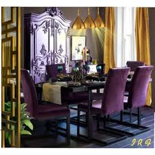 purple dining chairs side chair in purple velvet pertaining to dining chairs throughout