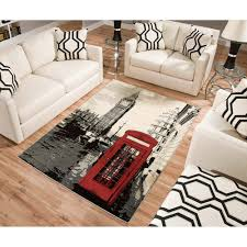 Black White Area Rug Terra Rectangle Area Rug Black White Walmart