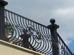 Stair Banisters And Railings Exterior Railings Gallery Compass Iron Works